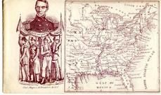 71x016.7 - Unknown Union Officer and map of Eastern United States, Civil War Portraits from Winterthur's Magnus Collection